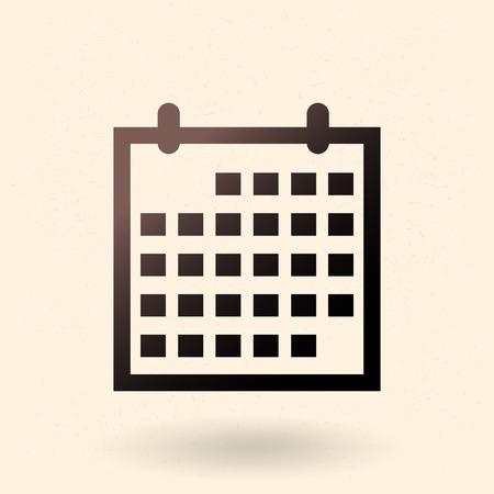 Single Black Silhouette Icon - Flip-Flop Calendar Illustration