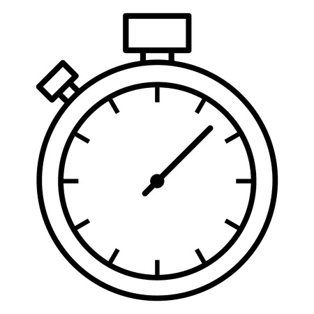 Vector Single Black Outline Icon - Stopwatch