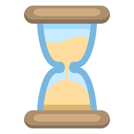 Vector Color Flat Icon - Hourglass. Sand Watch Sign Иллюстрация