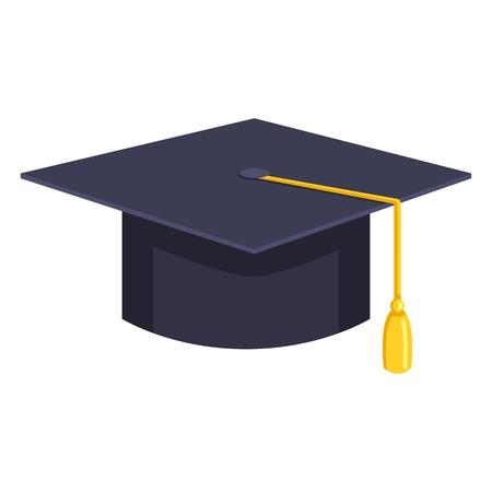 Vector Flat Education Icon - Graduation Cap. Academic Hat. Vektoros illusztráció