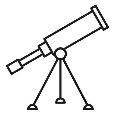 Icono de contorno negro - telescopio astronómico