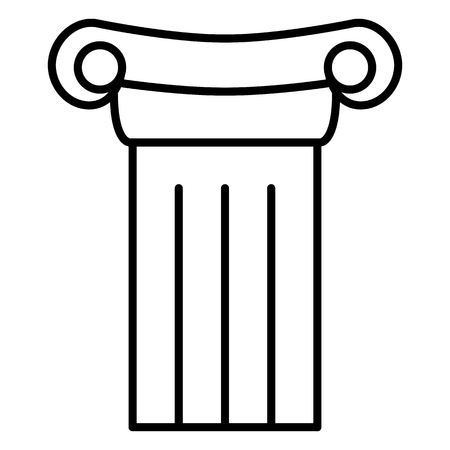 Vector Black Outline Icon - Antique Greek Column