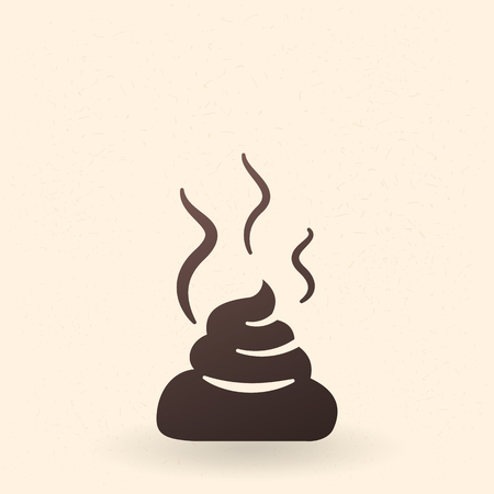 Vector Single Black Silhouette Icon - The Piece of Shit Illustration