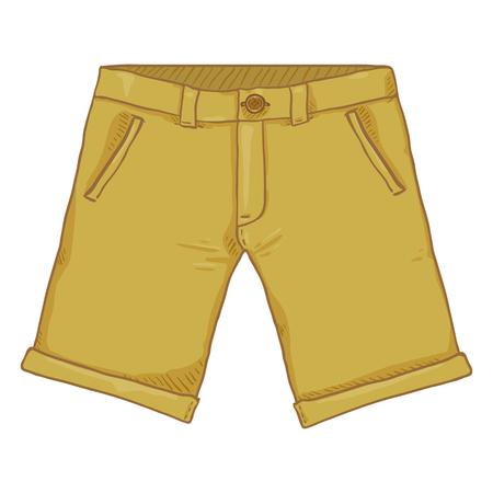 Vector Cartoon Illustration - Light Brown Casual Shorts Vettoriali