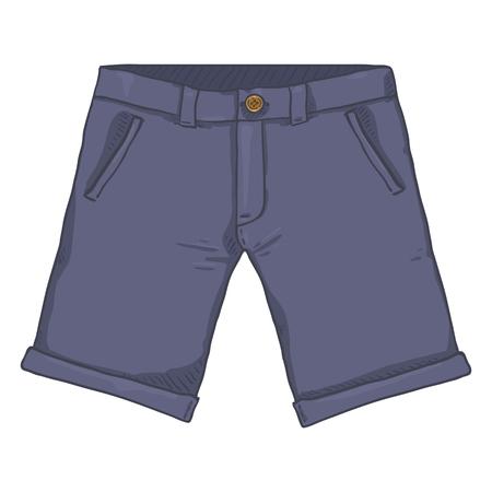 Vector Single Cartoon Illustration - Purple Shorts. Casual Style Wear.