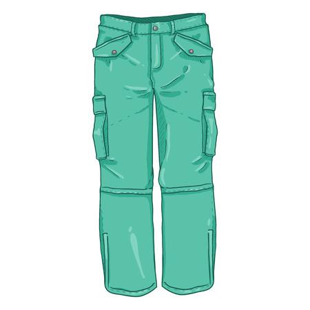Ilustracja kreskówka wektor-turkusowe zimowe spodnie turystyczne Ilustracje wektorowe