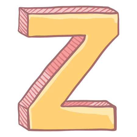 Vector Single Cartoon Illustration - The Letter Z