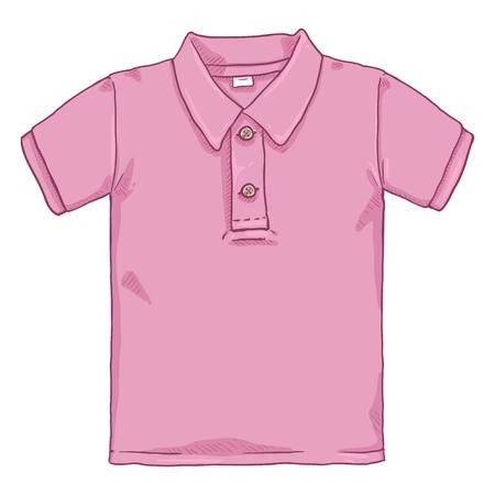 Vektor-Karikatur-Illustration - Rosa Poloshirt