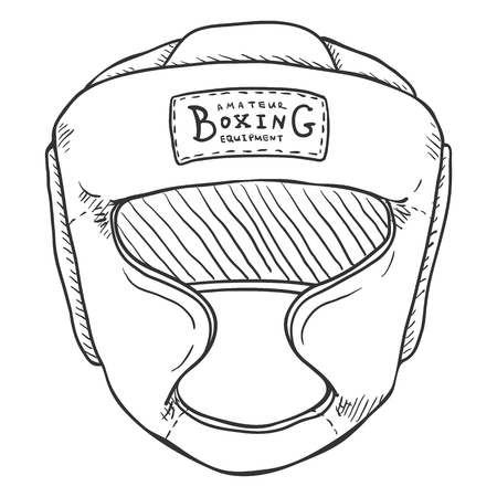 Vector Sketch Boxing Training Helmet