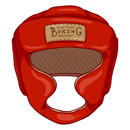 Vector Cartoon Red Boxing Training Helmet