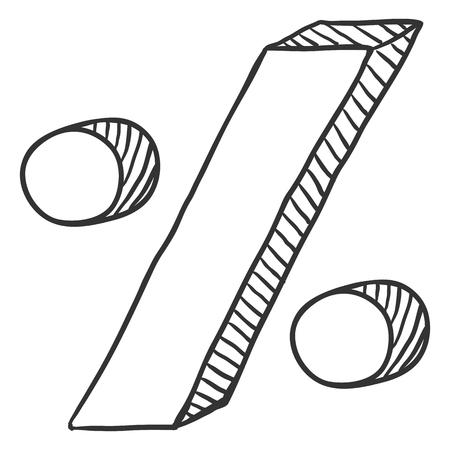 Vector Sketch Percent Symbol