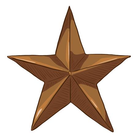 Vector Cartoon Bronze Star Foto de archivo - 119460572