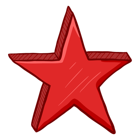 Vector Cartoon Red Color Star