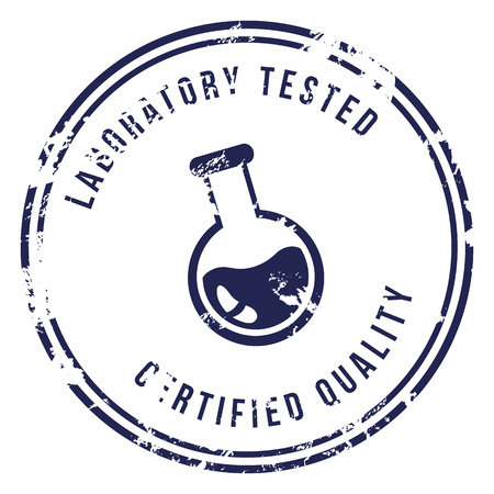 Vector Blue Stamp with Text - Laboratory Tested, Certified Quality