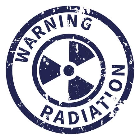 Timbre d'avertissement de vecteur. Marque de mise en garde contre les rayonnements
