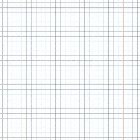 Vector fondo de papel cuadriculado cuaderno en blanco
