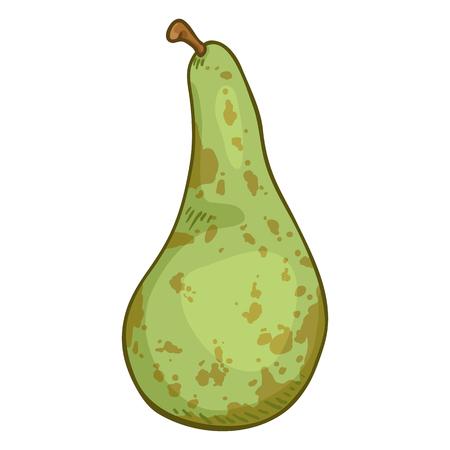 Vector Cartoon Green Pear