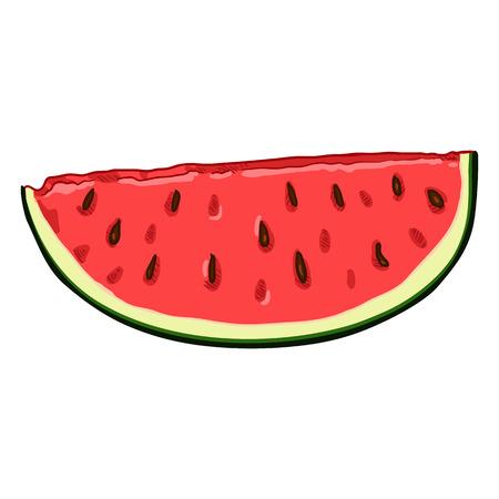 Vector Cartoon Piece of Watermelon Banco de Imagens - 124993842
