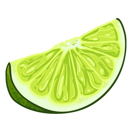 Vector Cartoon Lime Slice
