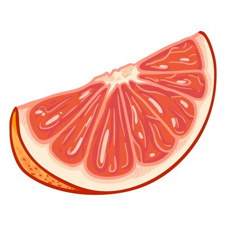 Vector Cartoon Grapefruit Slice