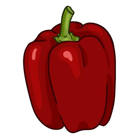 Vector Cartoon Red Paprika Pepper