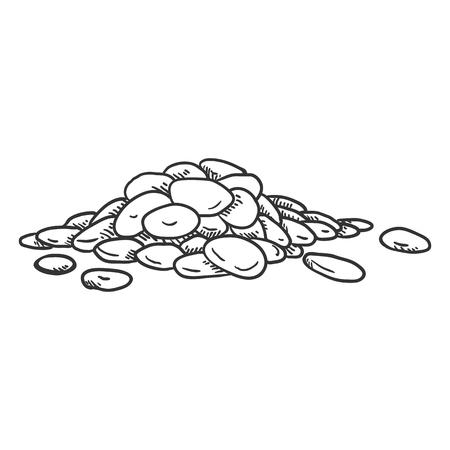 Vector Sketch Pile of Lentils
