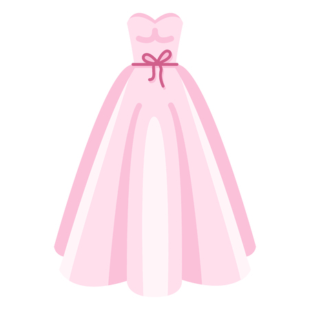 Vector Color Flat Wedding Dress Icon