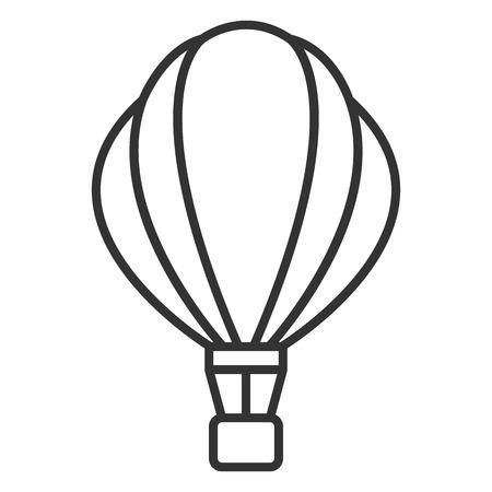 Vector Black Outline Aerostat Balloon Icon