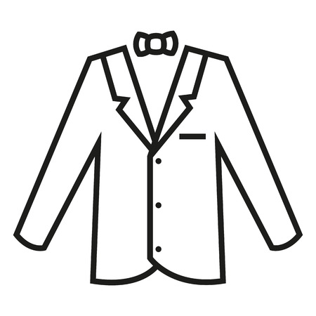 Vector Black Outline Tuxedo Icon