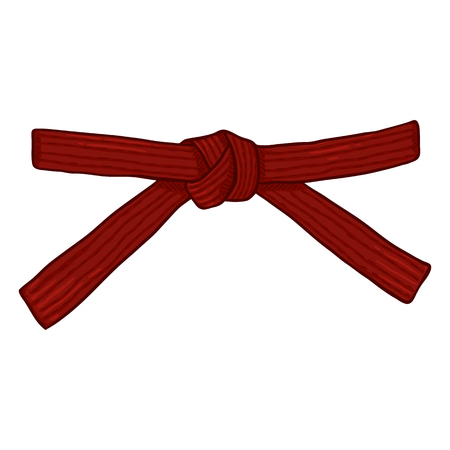 Vector Cartoon Red Karate Belt