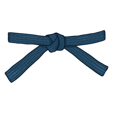 Vector Cartoon Blue Karate Belt