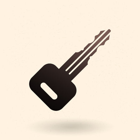 Vector Single Black Silhouette Icon - Car Key