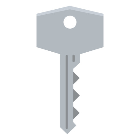 Vector Single Flat Modern Key Icon 일러스트