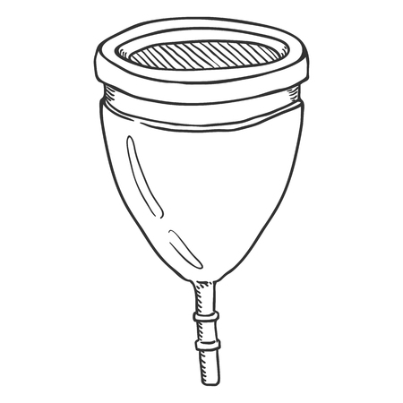 Vector Sketch illustration - Menstrual Cup