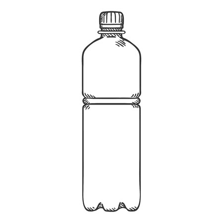 Vector Sketch Illustration - Small Plastic Bottle.