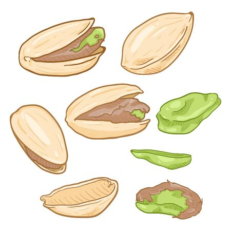 Set of Cartoon Pistachios
