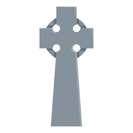 Vector Flat Celtic Cross Illustration. Tomb Icon 写真素材 - 130399959