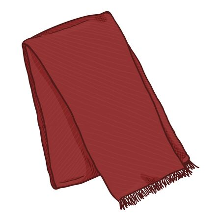 Vector Cartoon Red Folded Classic Scarf