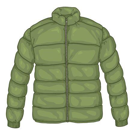 Ilustracja wektorowa kreskówka kurtka puchowa Khaki Ilustracje wektorowe