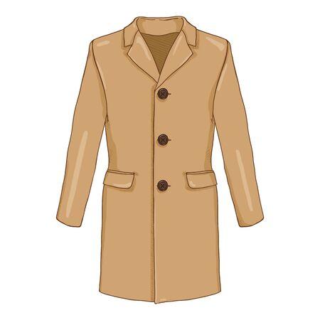 Vector Cartoon Brown Velvet Coat.