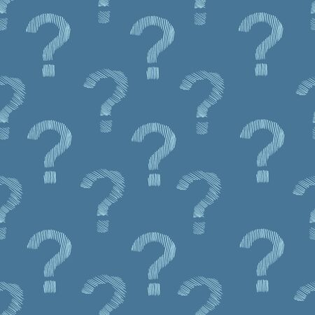 Vector Seamless Pattern of Question Marks. Quiz Background.