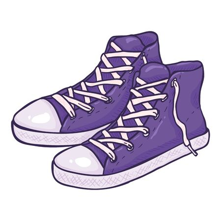 Vector Cartoon Purple Gumshoes Illustration
