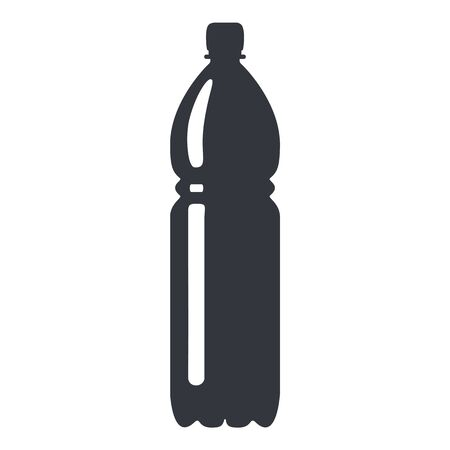 Vector Black Silhouette Plastic Bottle Icon