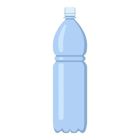 Vector Flat Color Plastic Bottle Icon