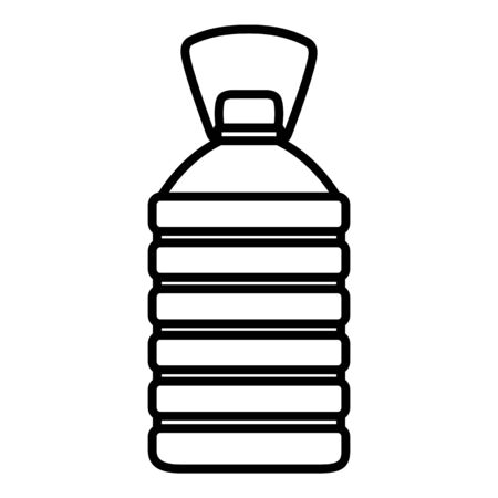 Vector Outline Plastic Bottle Icon. Water Symbol.