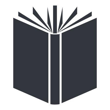 Vector Black Open Book Icon