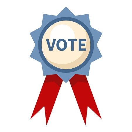 Vector Single Color Vote Badge Icon