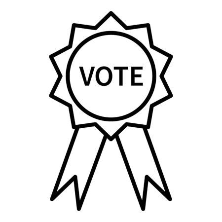 Vector Single Outline Vote Badge Icon
