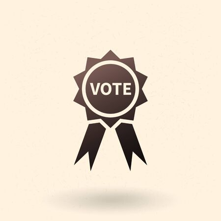 Vector Single Black Vote Badge Icon