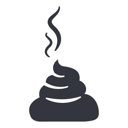 Vector Shit Icon. Black Poop Symbol.